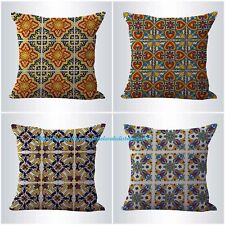 US SELLER-4pcs cushion covers Mexican Spanish talavera pillow case covers