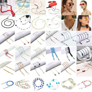Beaded Eyeglass Reading Glasses Sunglass Spectacles Holder Cord Chain Strap Lot