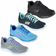 Skechers Lace Up Synthetic Upper Trainers for Women