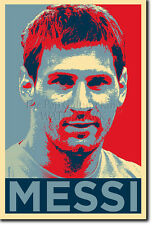 Lionel messi art photo print (Obama Hope) Poster Cadeau Football