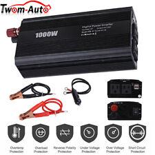 1000W/2000W Car Power Inverter Dc 12V To Ac 110V 2 Ac Outlets Rv Solar Converter