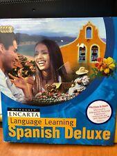 Microsoft Encarta Language Learning Spanish Deluxe X05-72279 headset 4 CDS box