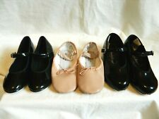Girls size10 12 13 Tap Shoes and Ballet Shoes