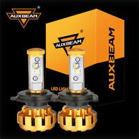 AUXBEAM H4 LED Headlight Bulbs Conversion Kit CREE 6000K Hi/Lo beam 9003 HB2 Fog