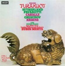 Puccini: Turandot Sutherland, Pavarotti  [2CD+Blu-Ray Audio] (2014 Decca) BLURAY