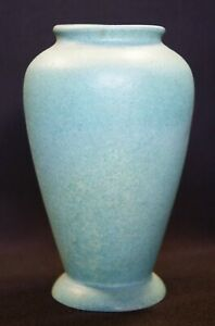 Broadmoor Pottery Colorado Springs Signed PH Genter Turquoise Textured Ftd Vase