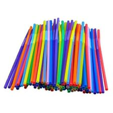 NEW-100 Quality Party Drinking Straws Assorted Coloured -100 STRAWS