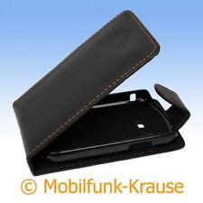 Flip Case Pouch Mobile Bag Case for Samsung Chat 220 (Black)