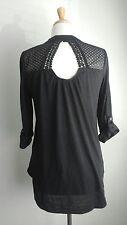 Almost Famous Women's Black Shirt Sz M