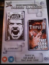 WWE Tagged Classic TRIPLE H HHH The Game / That Damn Good WWF PAL UK 2 Disc Set