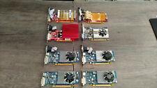 LOT N°3 DE 8 CARTES GRAPHIQUES ANCIENNES GENERATIONS, 8 X 512 MO PCI-EX