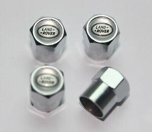Land Rover Silver Tire Valve Stem Caps - Plus Free Extra Cap - Total 5 Caps
