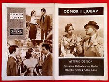 TIME OF VACATION 1956 DE SICA GIOVANNA RALLI MARISA MERLINI EXYU MOVIE PROGRAM