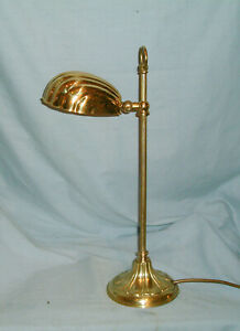 VINTAGE - CHRISTOPHER WRAY  DESK / TABLE / BEDSIDE LAMP - WITH CLAM SHELL SHADE