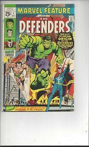 Marvel Feature 1 F (6.0) Origin &1st App. of the Defenders
