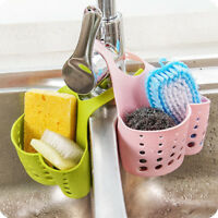 1x Kitchen Storage Rack Holder Sink Drainer Bathroom Shelf Soap Sponge Organizer