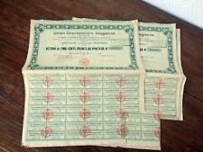 13x Action Warrant Bond / UNION CHARBONNIERE VOSGIENNE (Janvier 1923)