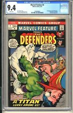 Marvel Feature #3  CGC 9.4 WP NM 1972  Dr Strange Hulk  3rd appearance Defenders