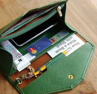 Women Ladies Long Handbag Card Clutch Wallet Leather Holder Purse Envelope Bag
