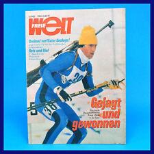 Freie Welt 4/1982 Krusenstern Biathlon Hohensaaten Sowjetarmee DDR-Zeitschrift