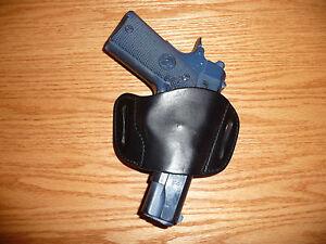 Belt Slide Leather Holster MEDIUM for 1911 Browning Hi Power, Kahr Tokarev LC9