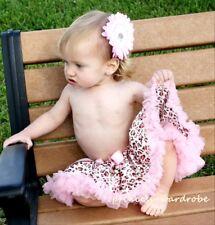Newborn Pink Leopard Print Baby Pettiskirt Tutu 3-12ms