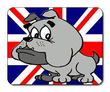 Cartoon, Puppy Bulldog Mouse Mat - Union Jack Flag