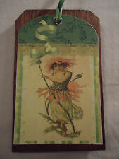 5 Wooden Fairy Ornaments/Large VictorianAngel Gift Tag/Spring BowlFiller Set-45