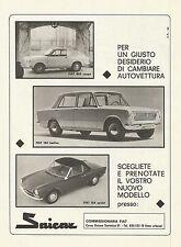 W0512 Saicar Torino - Fiat 850 Coupè - Fiat 124 Berlina - Pubblicità 1967 - Adv.