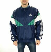 Men's Vintage 90's Adidas Spell Out Shell Jacket In Blue Size Medium