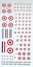 FR-100 - WWII French Insignia and Roundels - 1/76-1/285 Decals