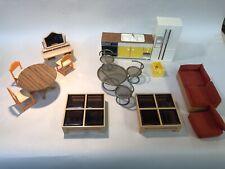 Vintage Lundby Miniature Doll House Furniture lot USED