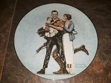 """New ListingNorman Rockwell's Collector Plate - Their First Mother's Day - Euc! 8"""" #648"""