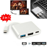 USB Type C to HDMI USB 3.0 HUB Charging Adapter Video Converter For Macbook PC