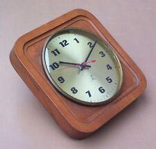 Pendule JAZ ELECTRONIC FRILIC BOIS vintage QUEUE HAUT ancien pendulette MARCHE