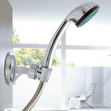 Shower Head Handset Holder Bathroom Wall Mount Adjustable Suction Bracket Silver