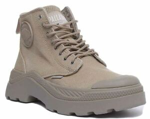 Palladium Plkik Hi Cvs Chunky Sole Lace Up Ankle Boot In Olive Size Uk 6 - 12