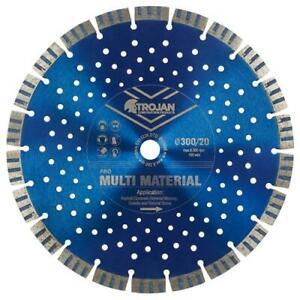 Trojan Pro Multi-Material Diamond Blades (115mm - 350mm) for Concrete, Masonry