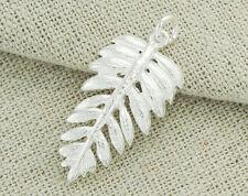 925 Sterling Silver Fern Leaf Pendant 14x25mm. Polish Finish