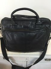 Marks And Spencer Autograph Unisex Black Leather Lapton Bag