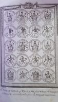 """Antique Engravings Set of 3 1783 """"Great Seals of England"""""""