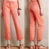 Anthropologie Pilcro and the Letterpress Hyphen Chinos Size 28 Orange Pants Crop