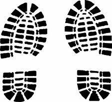 boot track / footprint sticker / hiking decal