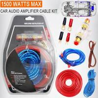 1500W 8GA Car Amplifier Install Wiring Kit Audio Subwoofer AMP RCA Power Cable N