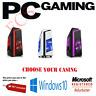 Gaming PC Quad Core i7 Computer SSD HDD 8GB 16 GB RAM GT710 GTX 1650 Win 10 WiFi
