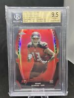 2014 TOPPS CHROME MIKE EVANS ROOKIE RED REFRACTOR /25 BGS 9.5 GEM MINT POP 2