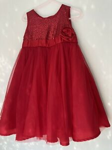 Girls Dress Red Age 3-4 Years