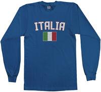 Threadrock Men's Italia Flag Long Sleeve T-shirt italy rome italian soccer