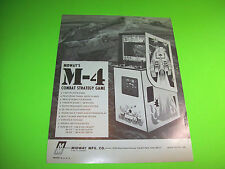 Midway M-4 Video Arcade Game Promo Advertising Not A Sales Flyer Black White Ver