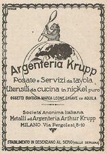 Z2019 Argenteria Krupp - Posate e Servizi da tavola - Pubblicità d'epoca - Adv.